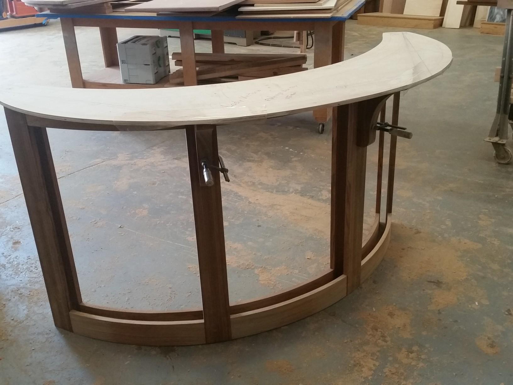 Curved Teak Bar Build - Finish Carpentry - Contractor Talk
