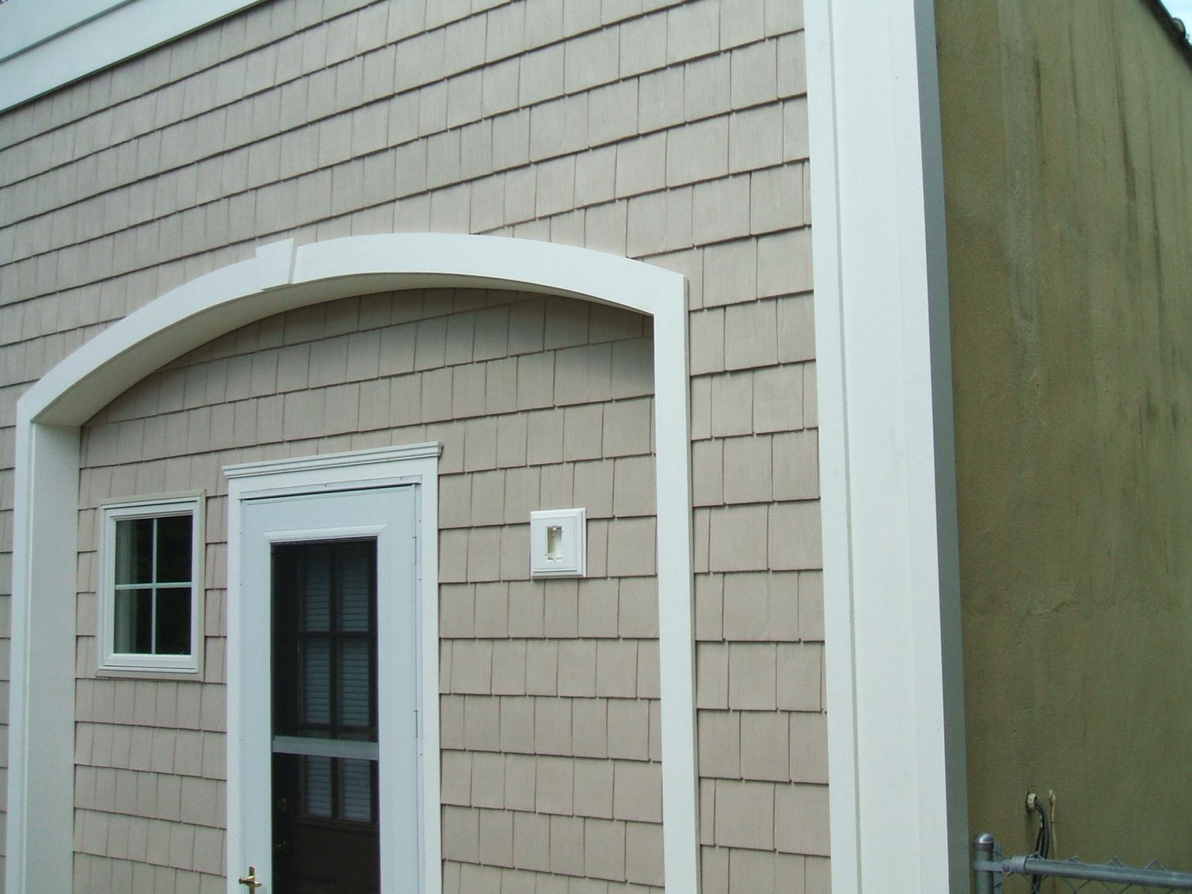 Ideas For Siding A Long Block Building Windows Siding