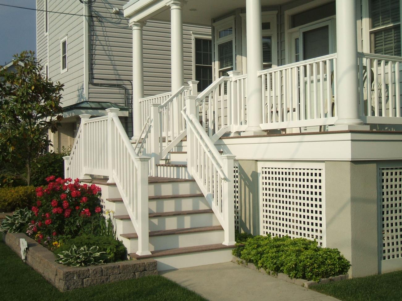 What Material Is Used For White Frame Fascia And Stair