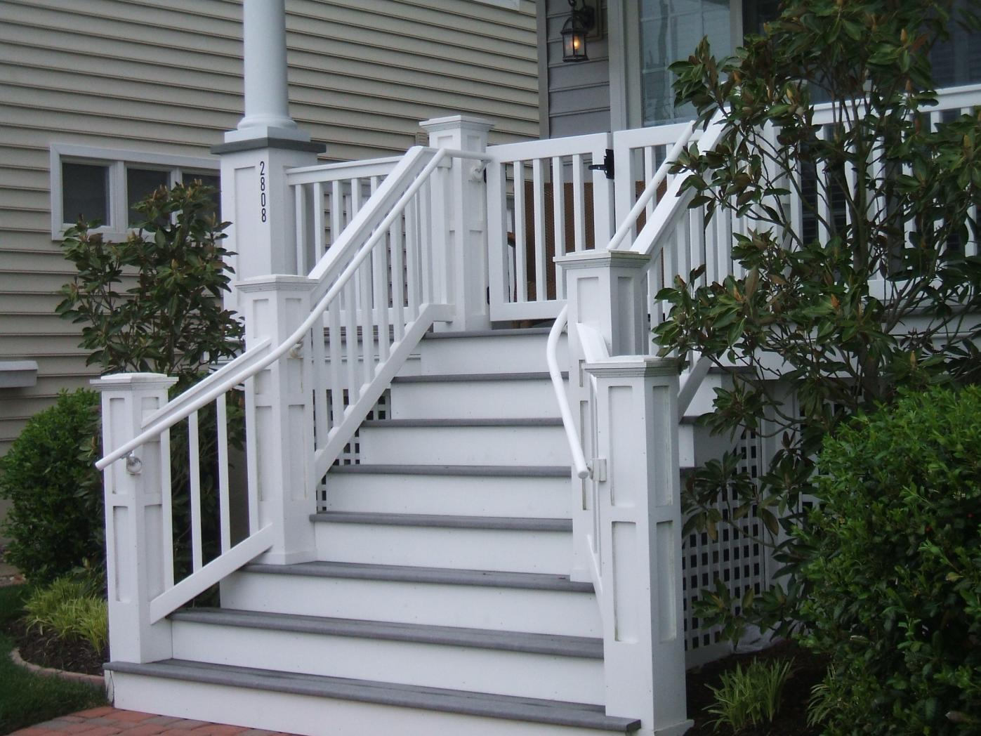 What Material Is Used For White Frame Fascia And Stair Risers?