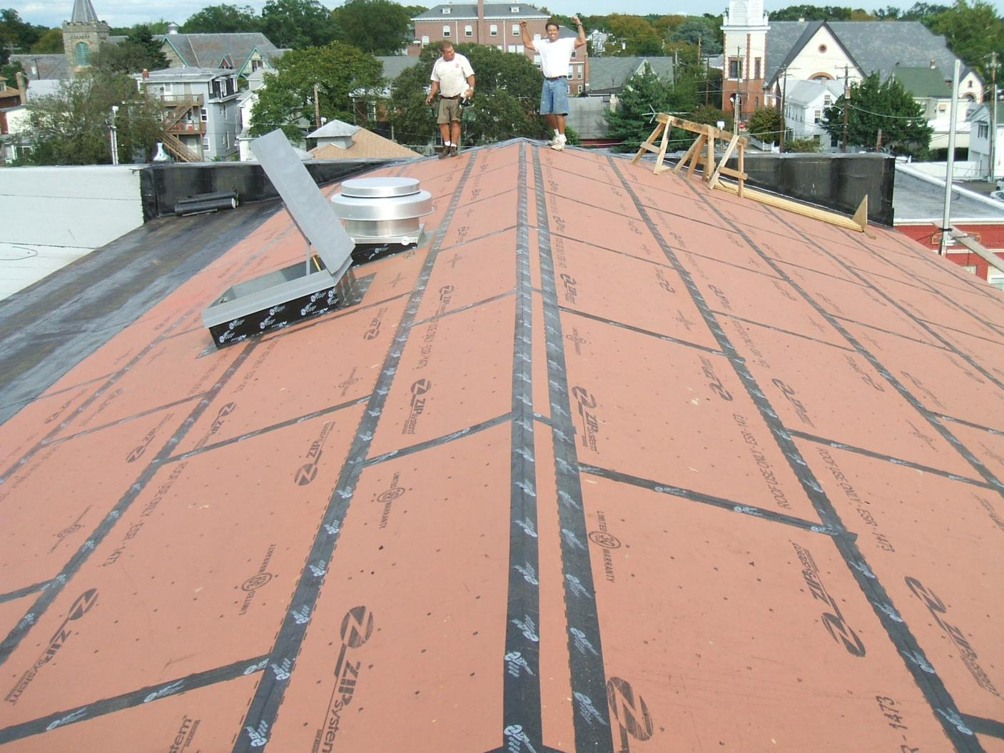 Zip panels construction contractor talk for Roof sheathing material