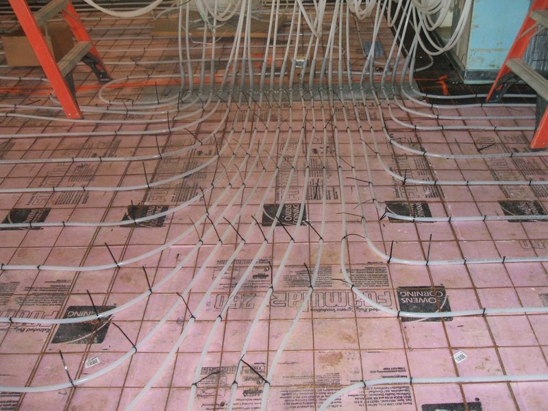 Spray foam under a slab for insulation construction for Insulating basement floor before pouring