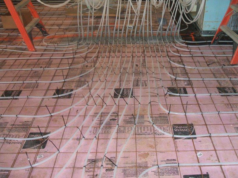 Spray Foam Under A Slab For Insulation Construction