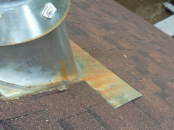 Yellow Stain On Roof Flashing Vent Hvac Contractor Talk