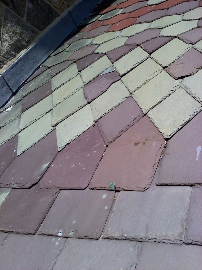 Different Color Stripes Carriage House Shingles