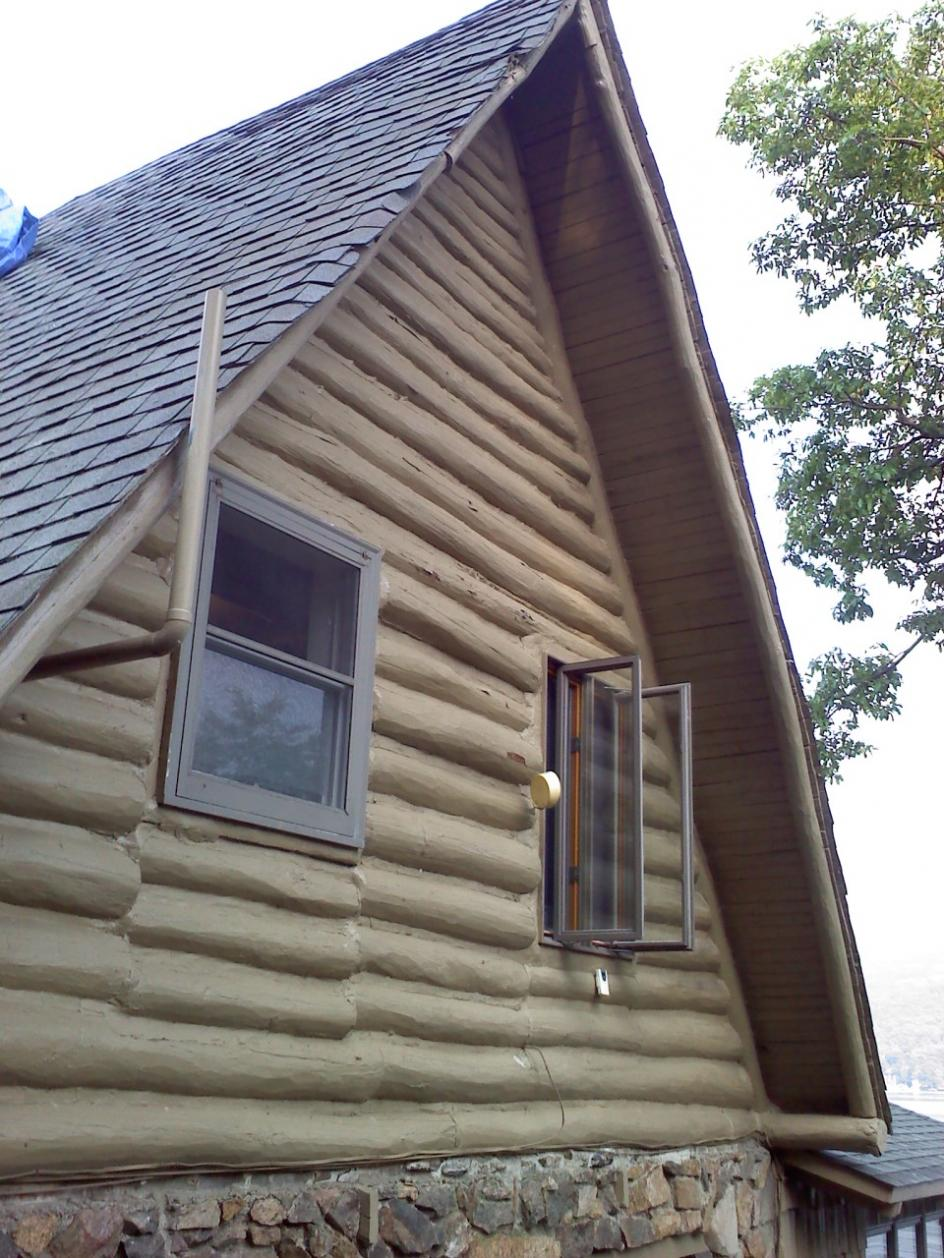 Timbermill Siding On Log Cabin Windows Siding And