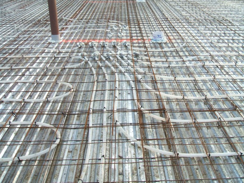 hydronic radiant heating spacing