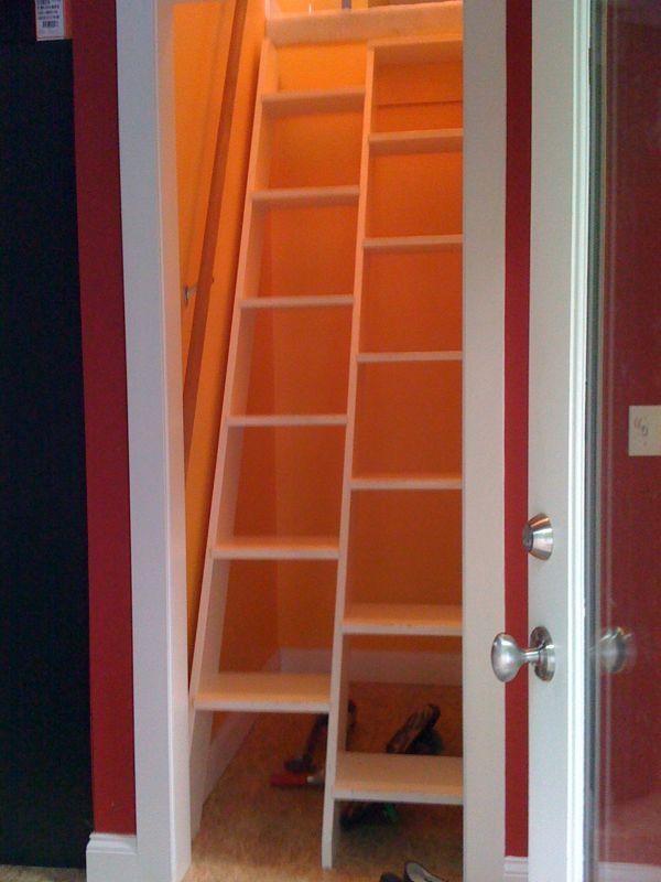 Using shelves as a permanent ladder closet Ask MetaFilter
