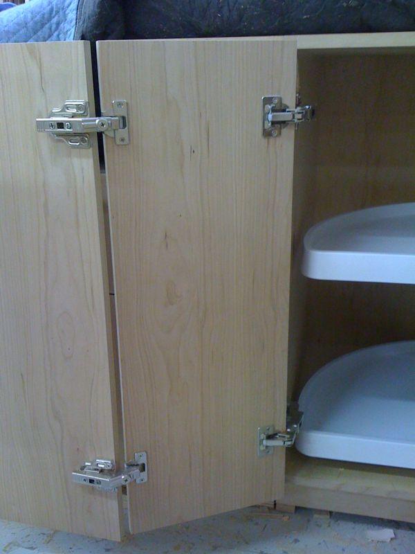 Corner Cabinet Hinge Contractor Talk, Adjusting Kitchen Corner Cabinet Hinges