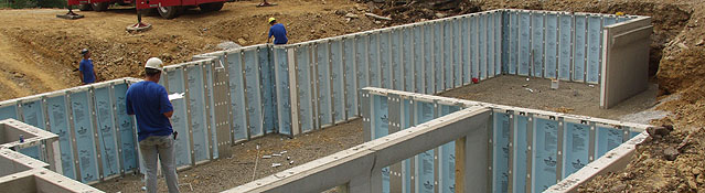 Comparing concrete block to precast concrete like superior for Prefabricated basement walls