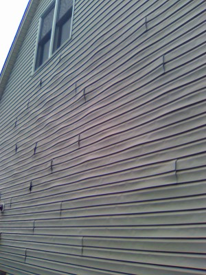 What Happened To This Siding It Is Melting Windows