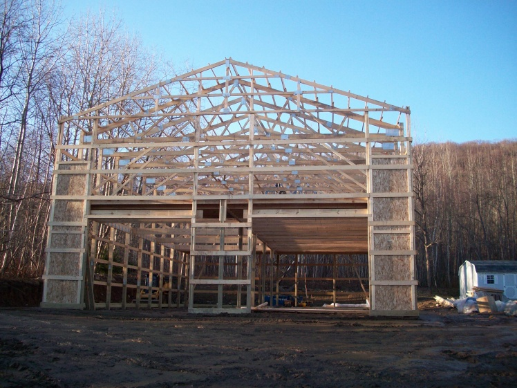 Pouring Concrete In An Existing Pole Barn : Pole barn on slab general discussion contractor talk