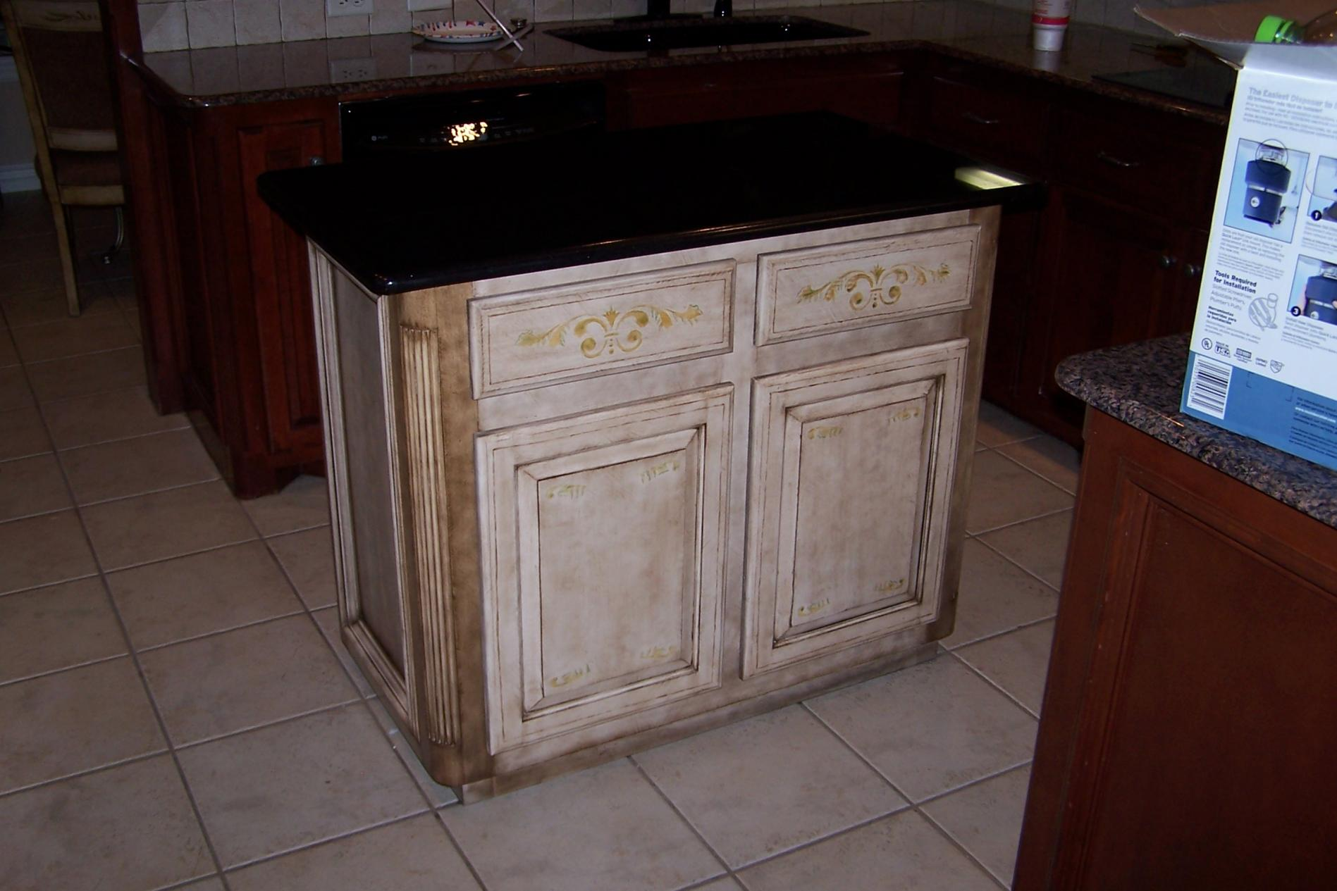 Kitchen Island Built Painted To Match Dinette Carpentry Picture Post Contractor Talk