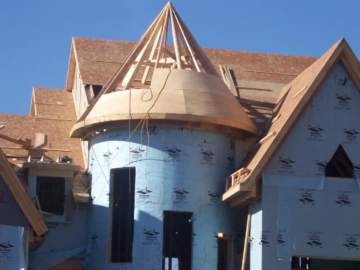 Conical Roof Onto Cylindrical Turret Page 4 Roofing