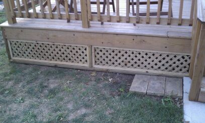 Deck Skirting......What's Everyone Using? - Page 2 - Decks ...