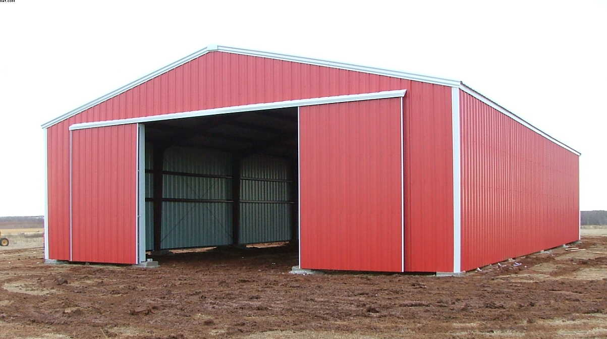 Metal carports steel barns clear span buildings for Clear span garages