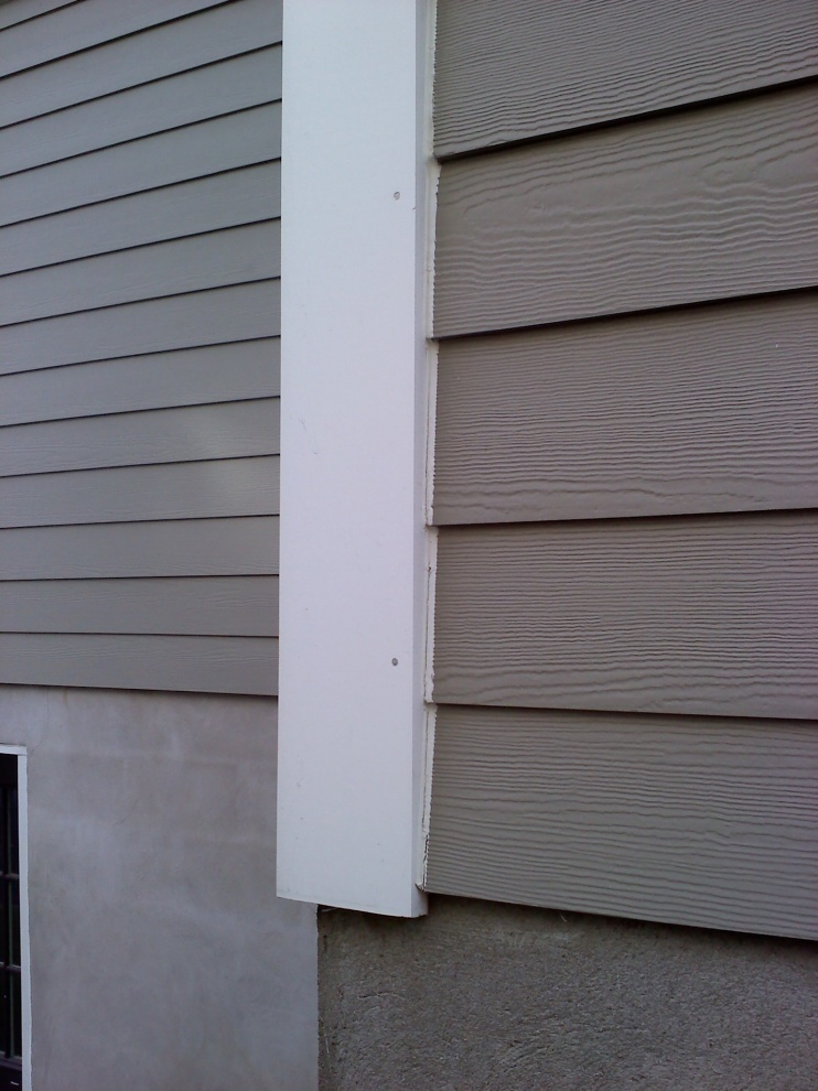 Gable cuts on prefinished fiber cement windows siding for Prefinished siding