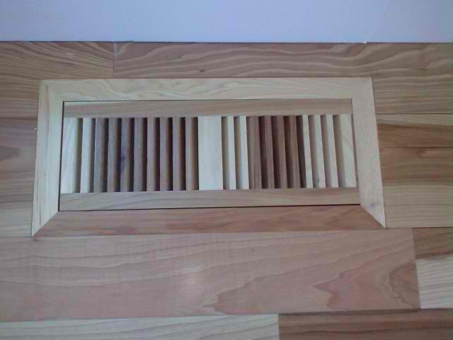 Installing built in vents into already installed 3 4 wood for Installing 3 4 inch hardwood flooring