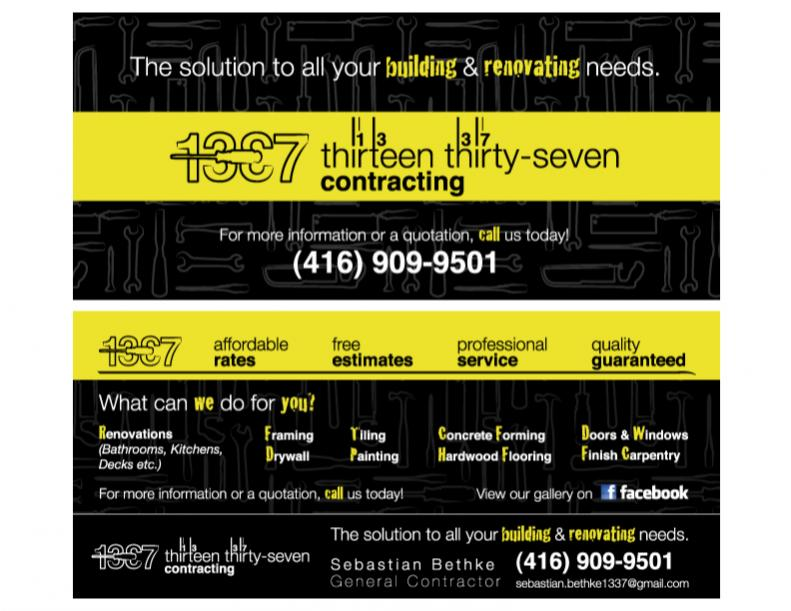 Show Your Business Card - Page 5 - Marketing & Sales - Contractor Talk