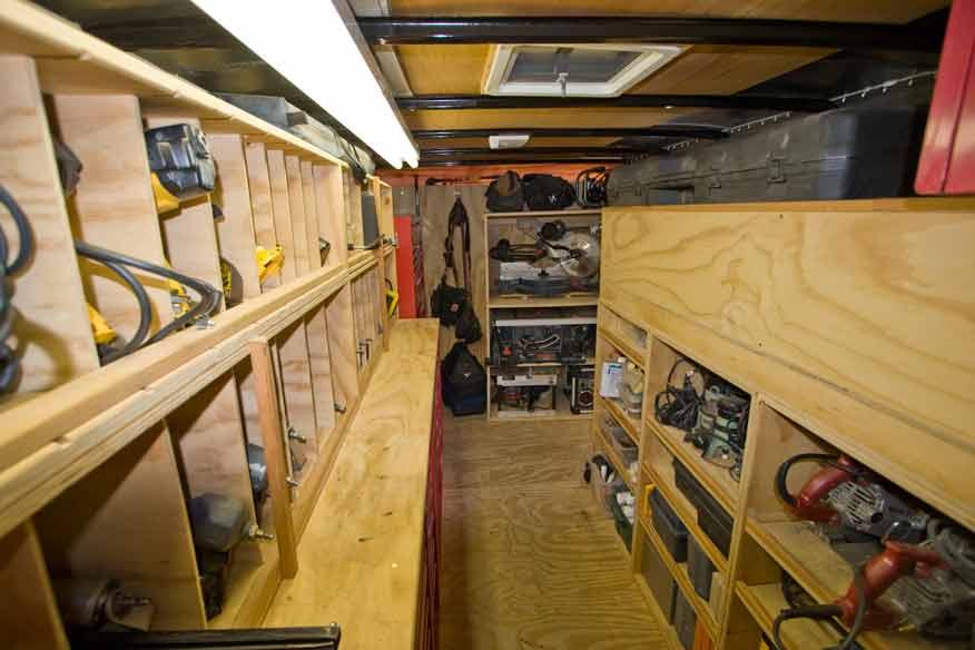 cargo trailer shelves vehicles contractor talk rh contractortalk com cargo trailer shelves ideas plywood cargo trailer shelves