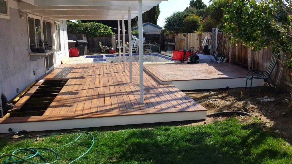 Building a timber deck over a concrete slab building deck for Slab built homes