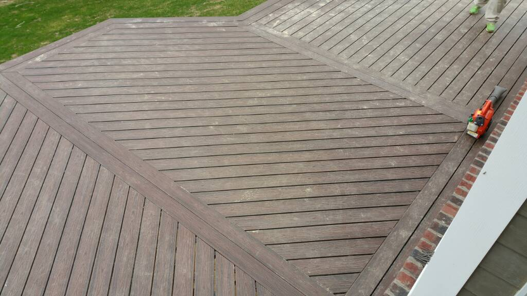 Diagonal trex deck build decks fencing contractor talk