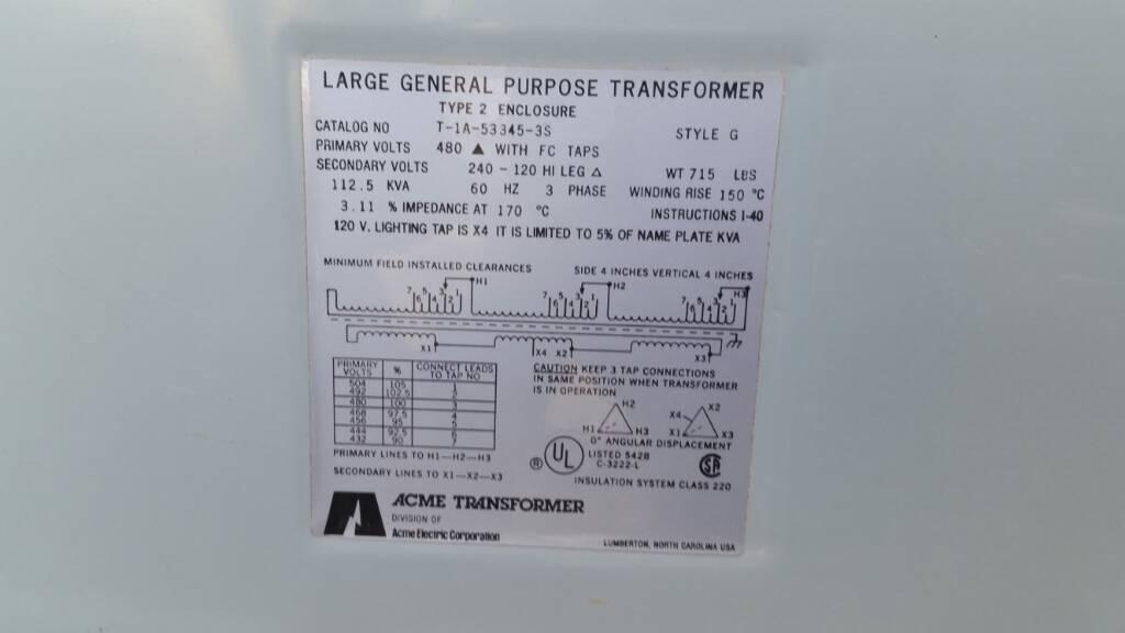 480v To 240  120v Transformer Questions