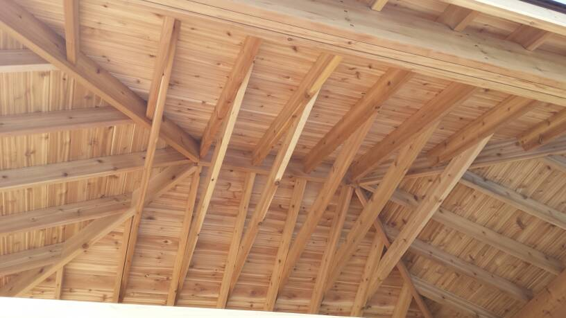 Roof deck 2x6 or 1x6 t g framing contractor talk for Tongue and groove roof decking