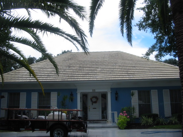 How do the roofing manufacturers say to clean roofing? Like this=-17-golfview-roof-001.jpg