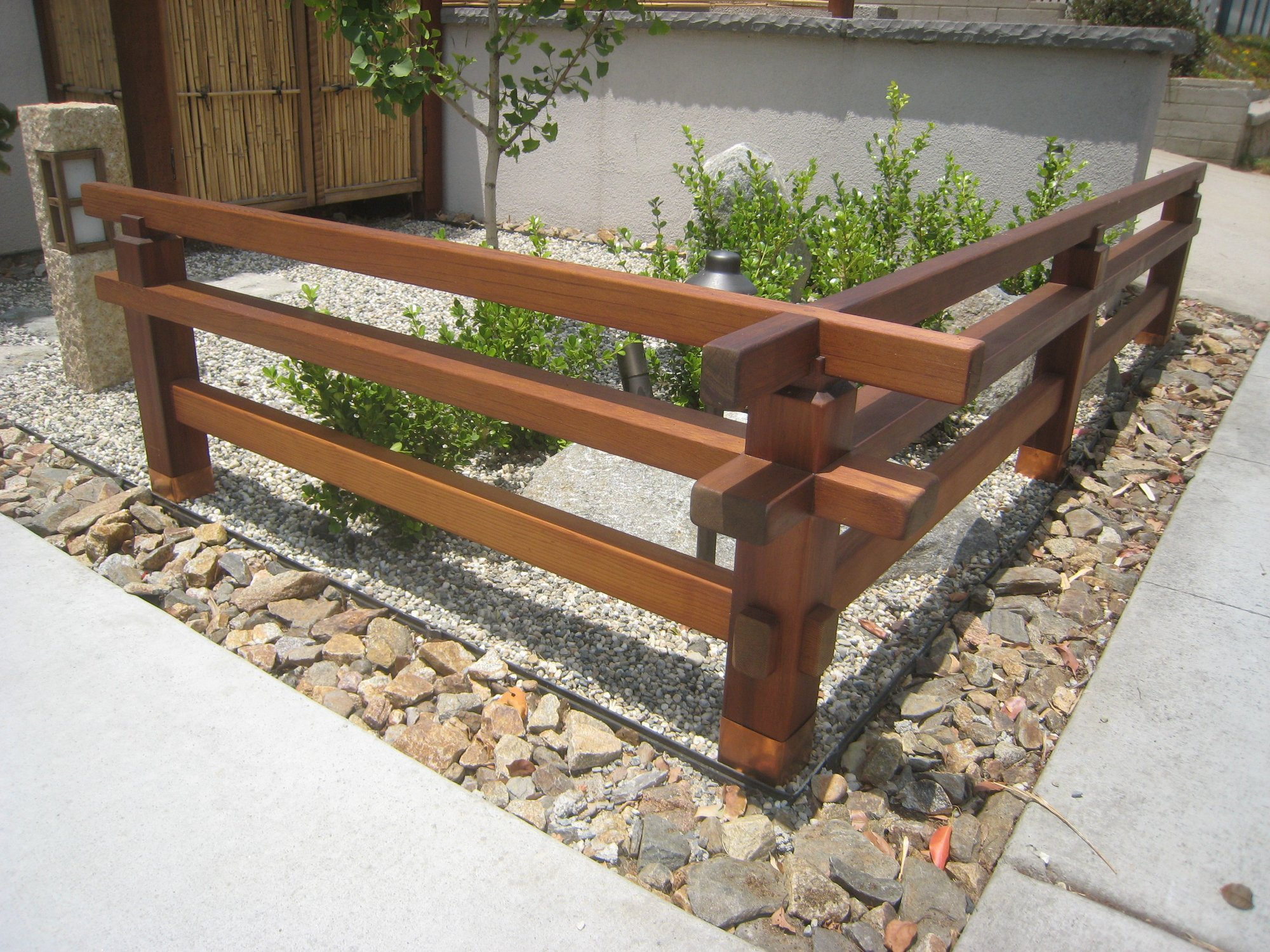 Wrap structural posts in waterproofing tape?-1zen-garden-wood-fence.jpg