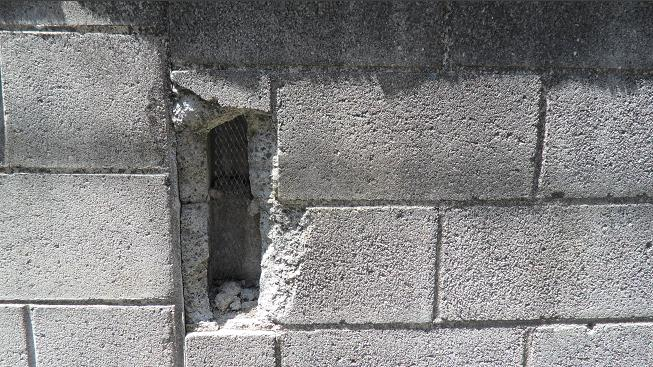 Attractive How To Patch Hole In Cinderblock
