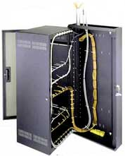 Routers/Modems/Switches Inside Structured Cabling Cabinet - Low ...