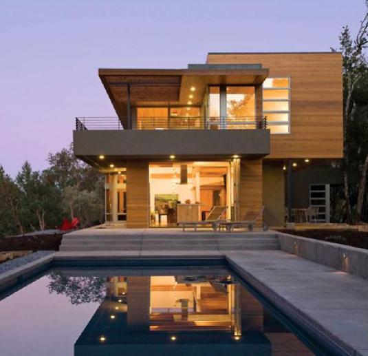Log Siding On A Contemporary Home Windows Siding And