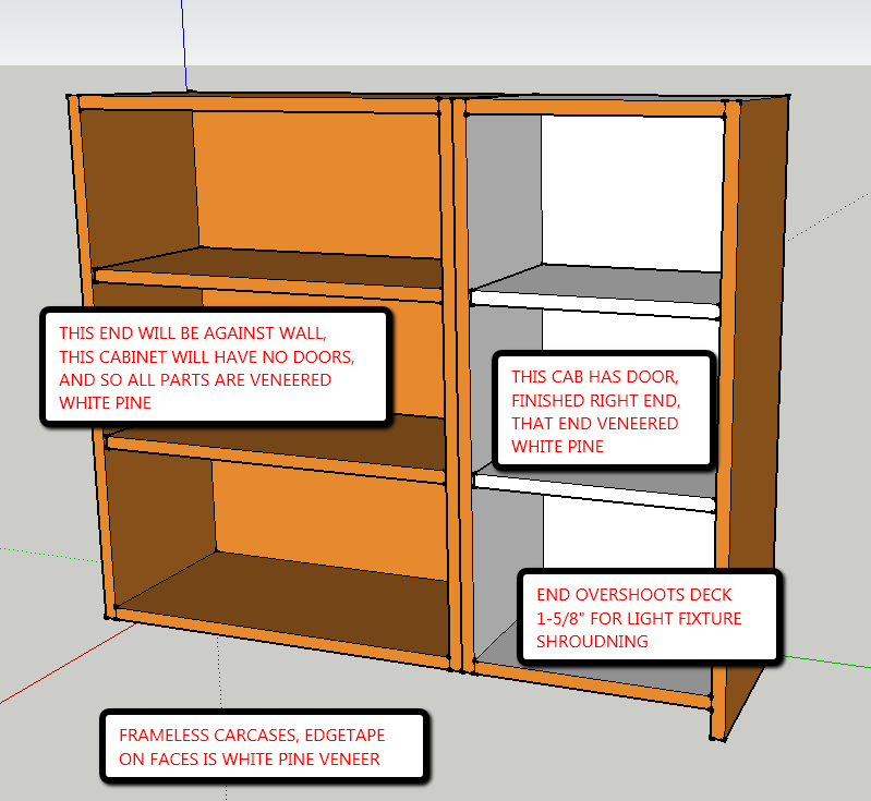 Wall Cabinet Construction And Details - Frameless - Finish ...
