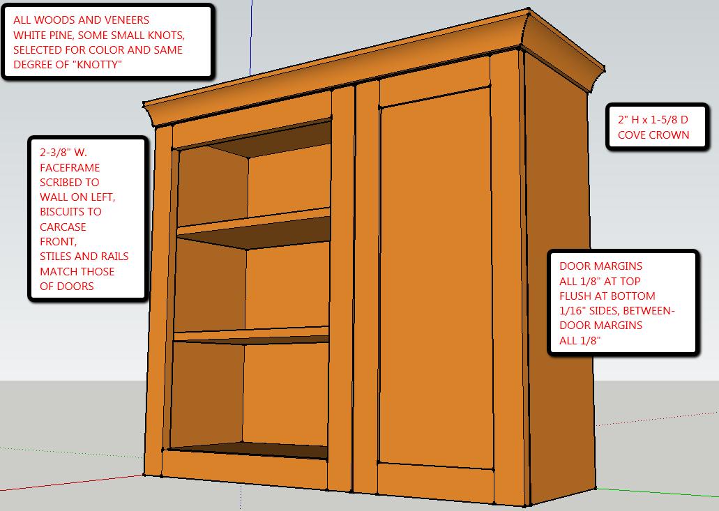 Cabinet Construction Details : Frameless kitchen cabinet plans how to build