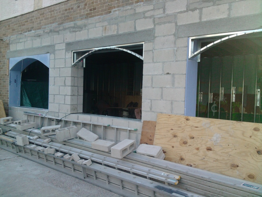Framing For Arch Window In Square Block Wall Opening