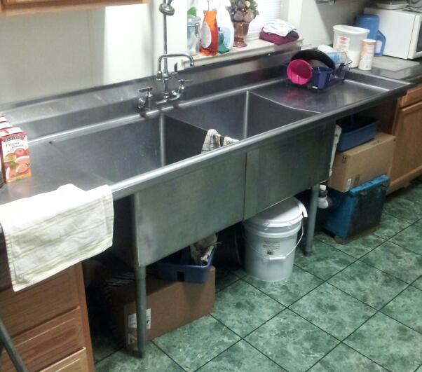 Commercial Kitchen Plumbing : Covering A 2 Compartment Commercial Sink? - Kitchens & Baths ...