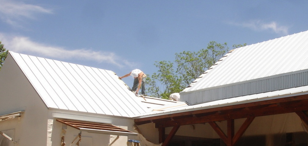 Standing Seam Steel Roof In TX. Sheathing, Purlins, Etc.