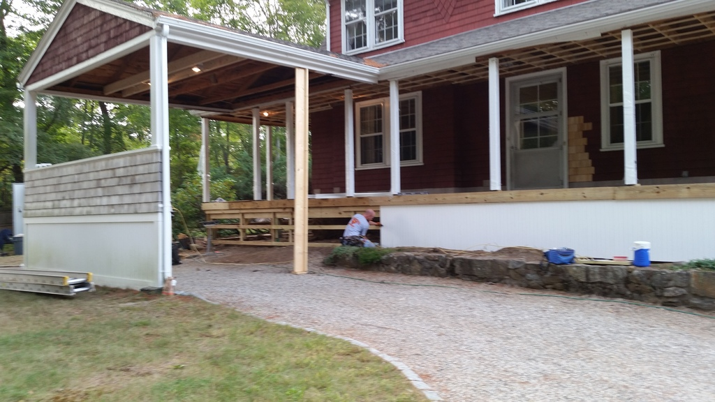 Farmer porch rebuild decks fencing contractor talk for Farmers porch
