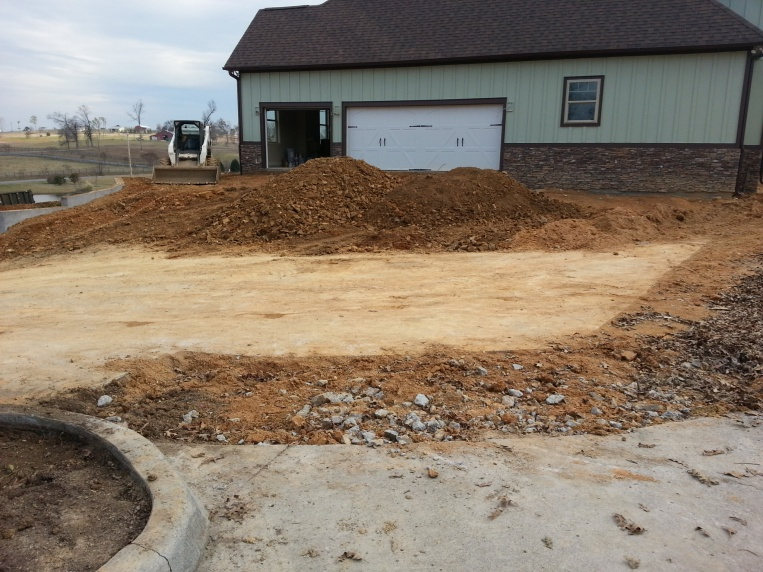 Pouring new driveway on top of old driveway concrete for How to pour a concrete driveway