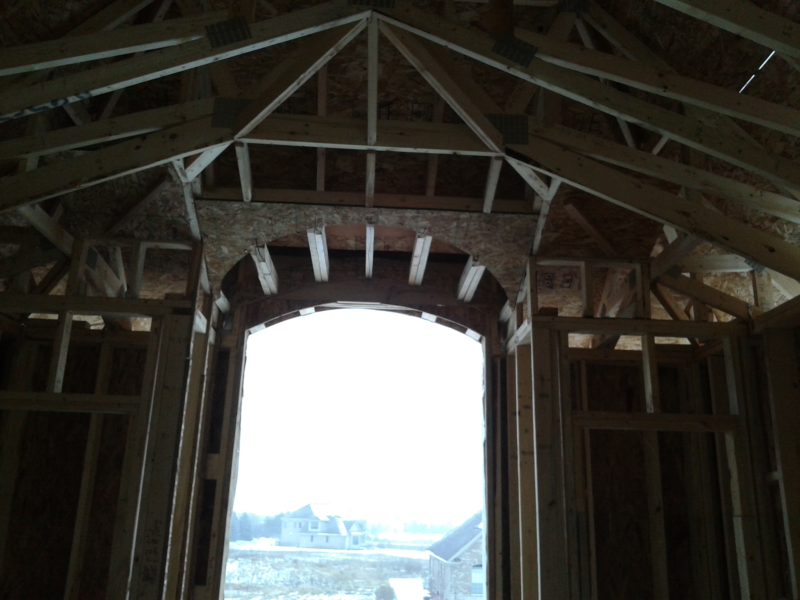 Barrel into a vaulted ceiling framing contractor talk for Barrel vault roof