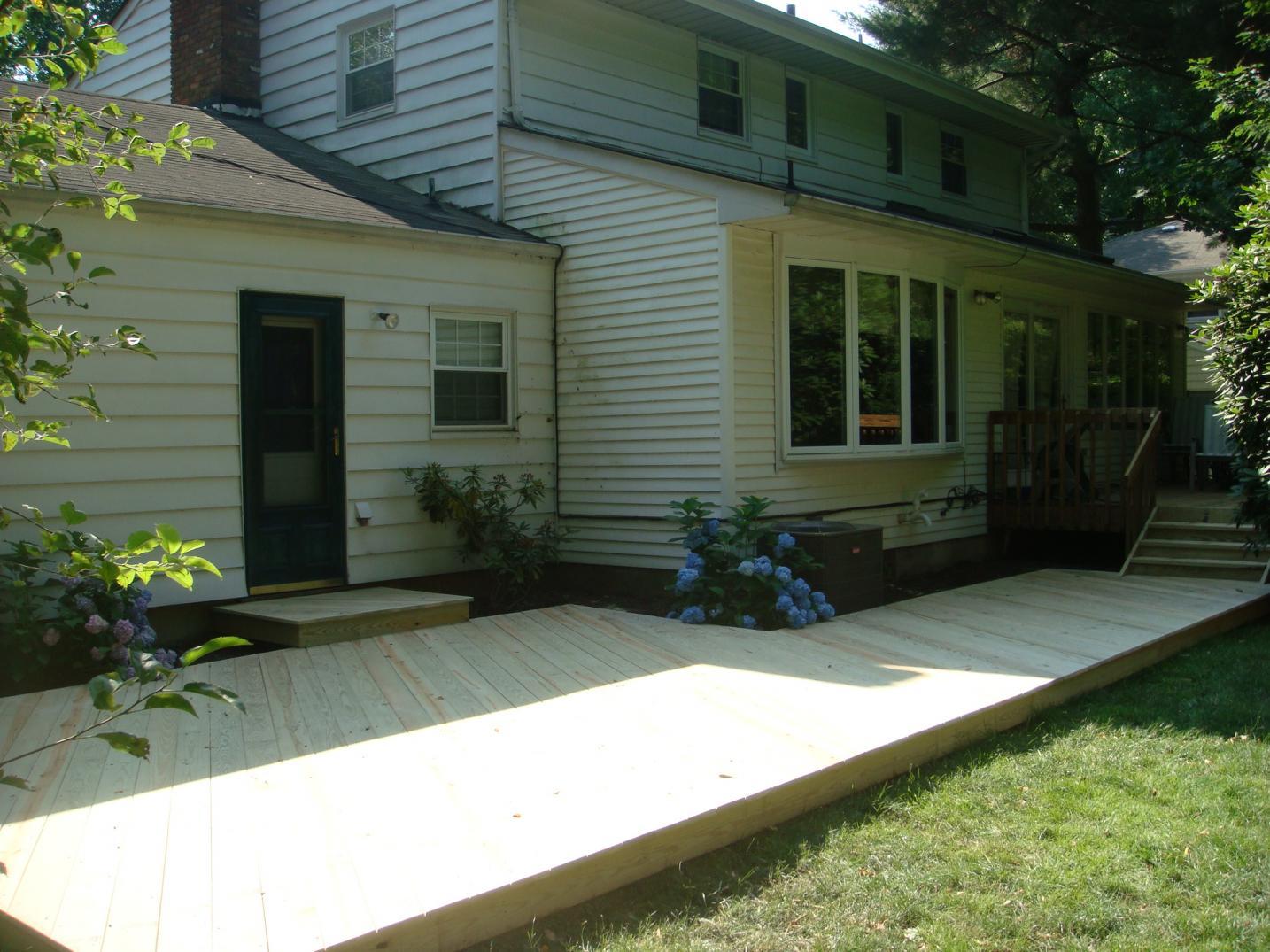 First Ground Level Deck...need Advice Please!! - Decks ... on Ground Level Patio Ideas id=63489