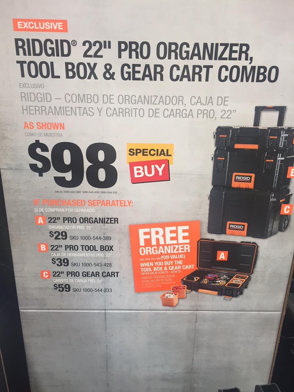 ridgid toolbox sale tools equipment contractor talk. Black Bedroom Furniture Sets. Home Design Ideas