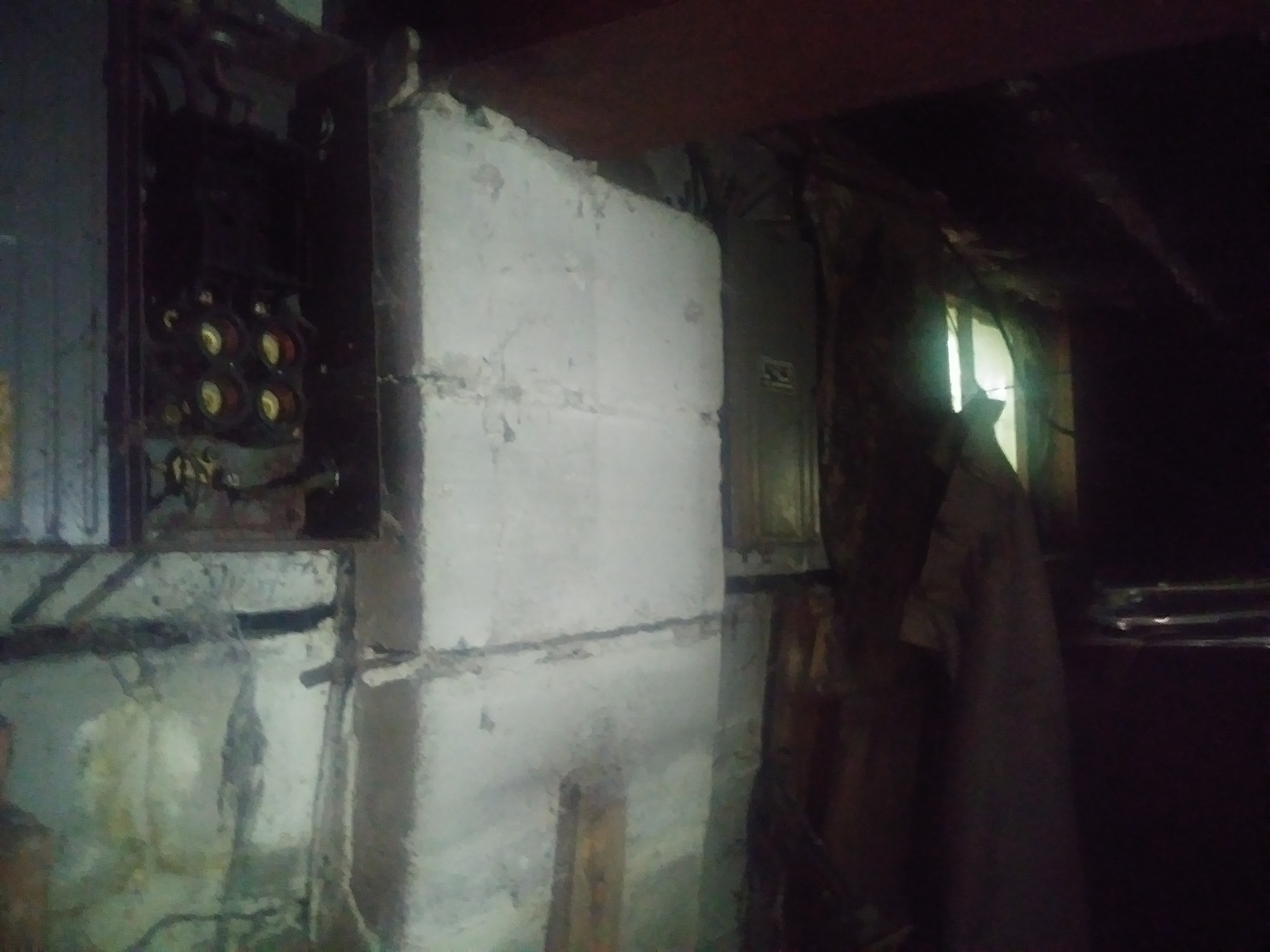 Foundation wall cracked and leaning inward.-35244954983_06496f769f_k.jpg