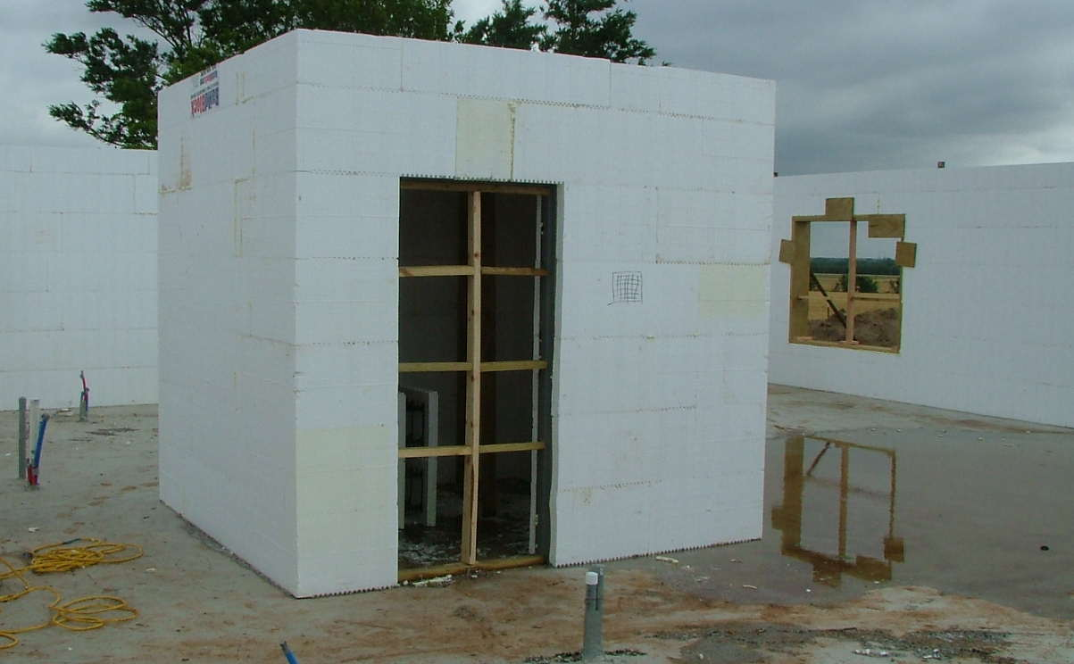 Icf home start perry oklahoma construction picture for Icf homes