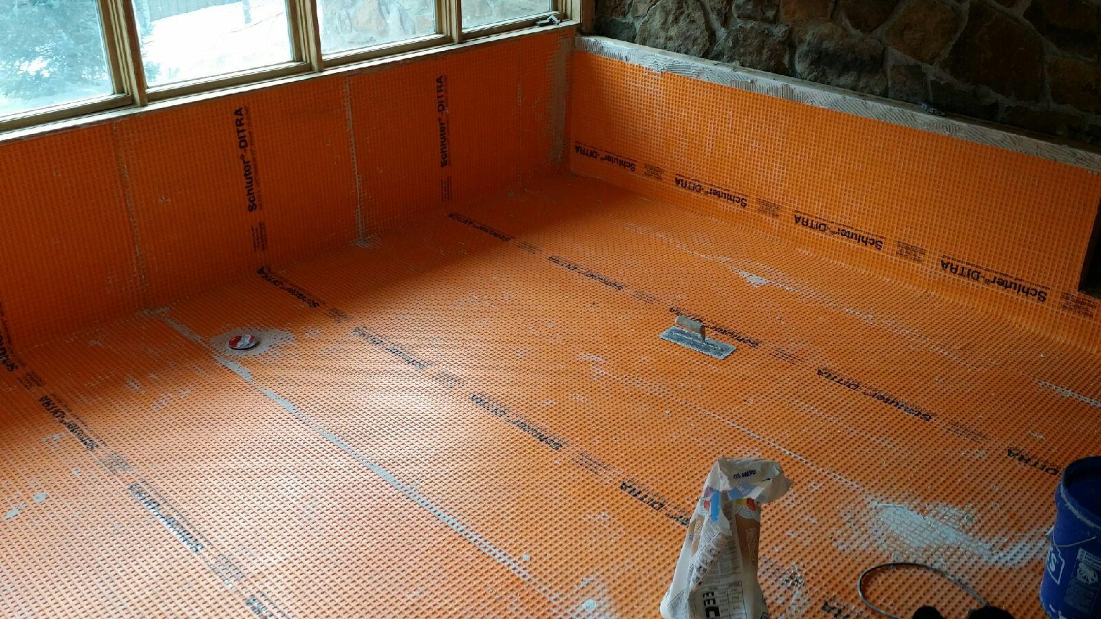 Waterproofing Under The Hot Tub Disaster Flooring