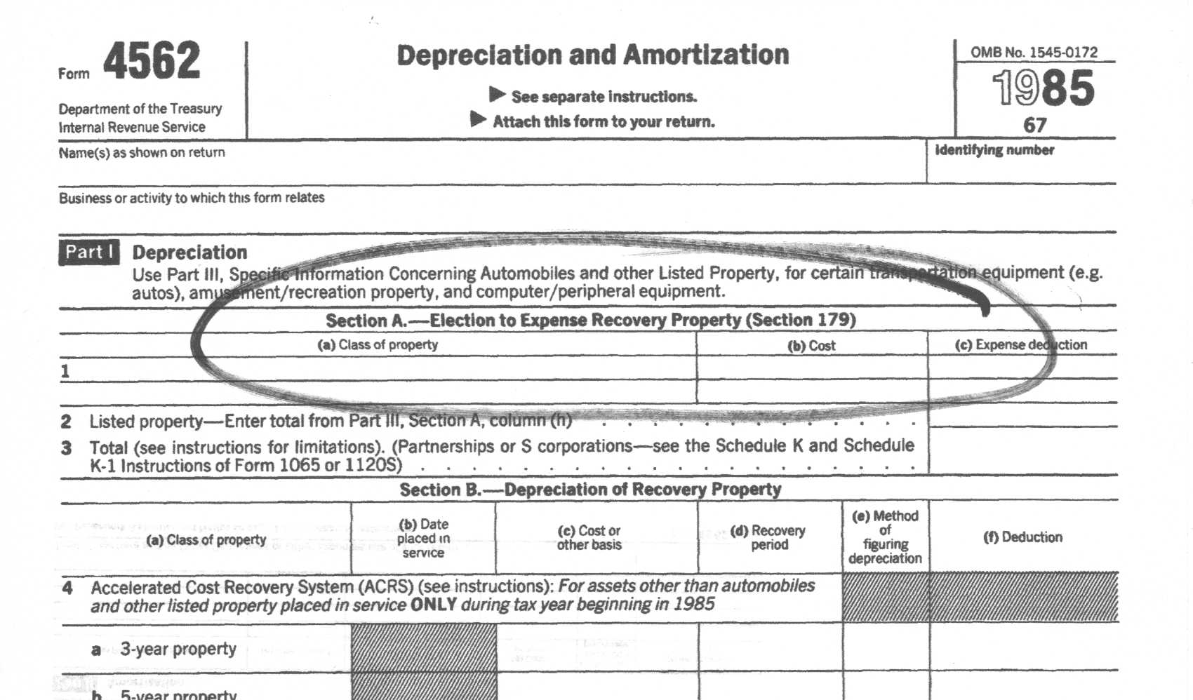 IRS Form 4562 Depreciation and Amortization - oukas.info