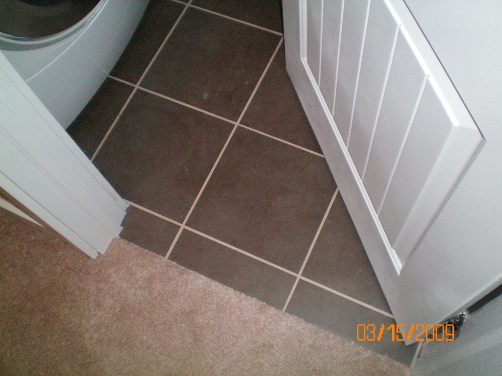 Tiling Bathroom Door Threshold carpet/tile transition not under door; need your response - page 2