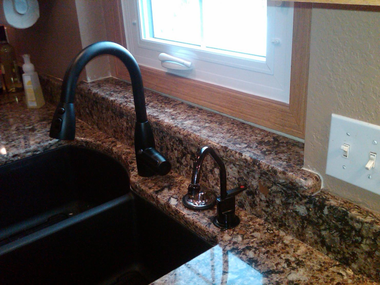 Faucet On Granite Countertops