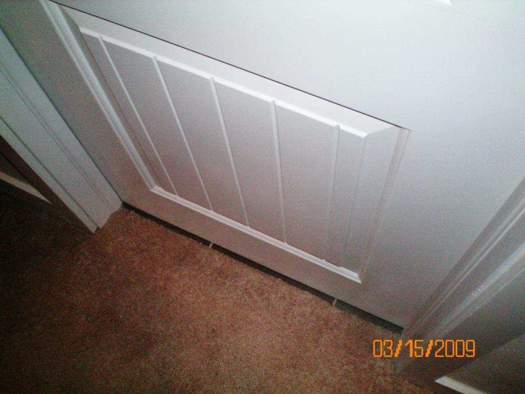 Tiling Bathroom Door Threshold carpet/tile transition not under door; need your response